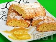 Рецепта Лимонов кекс с мед и масло